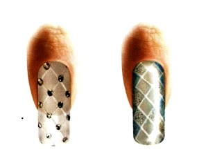 рисунок сетка на ногтях
