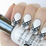 дизайн ногтей с кружевом фото
