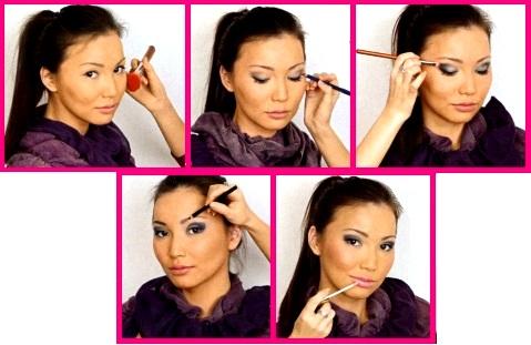 уроки макияжа для карих глаз