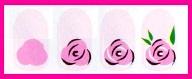 роза на ногтях схема
