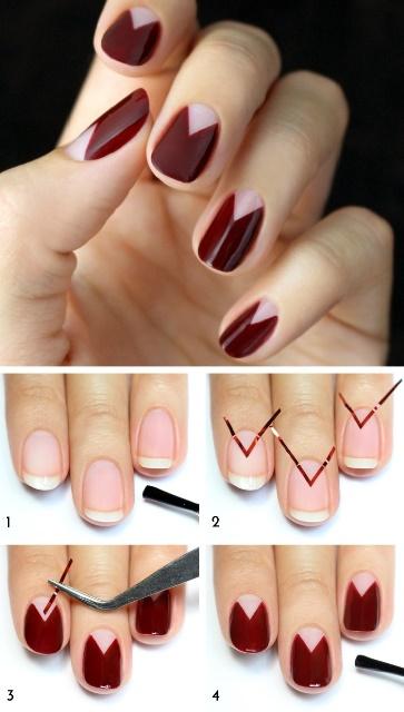 простые рисунки на ногтях фото пошаговое