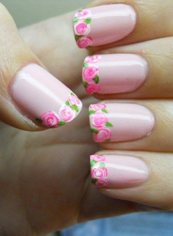 Flower-French-Manicure