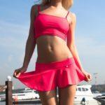 Короткие юбки красная