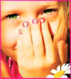детские рисунки на ногтях фото