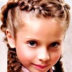 красивая прическа из косичек для девочек