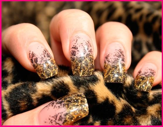 леопардовый маникюр схема и фото