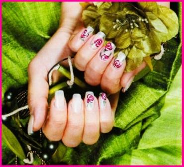 розы на ногтях: пошаговая инструкция