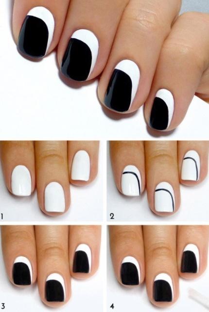 короткие ногти маникюр