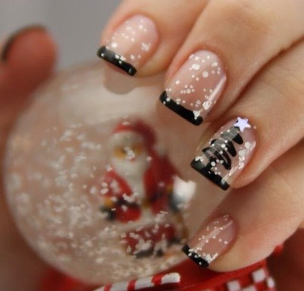Christmas-French-Manicure
