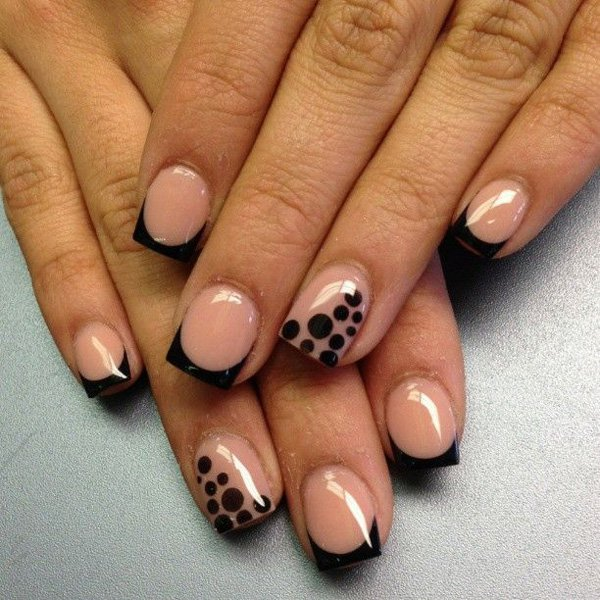 Leopard-French-Manicure