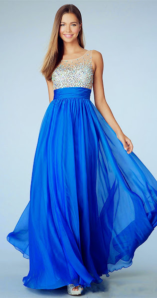 Attractive Long Prom Dresses 2014